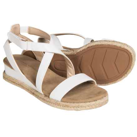 Vittadini Sport Charlie Gladiator Sandals - Leather (For Women) in White - Closeouts