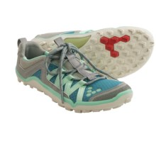 Vivobarefoot Breatho Trail Shoes - Minimalist (For Women) in Grey/Teal - Closeouts