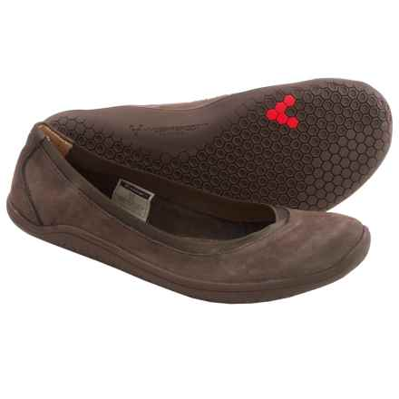 Vivobarefoot Daisy Shoes - Nubuck (For Women) in Dark Brown - Closeouts