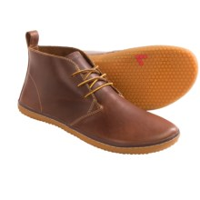 Vivobarefoot Gobi Leather Chukka Boots - Contrast Laces, Minimalist (For Men) in Dark Brown - Closeouts