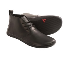 Vivobarefoot Gobi Leather Chukka Boots - Minimalist (For Men) in Black Leather - Closeouts