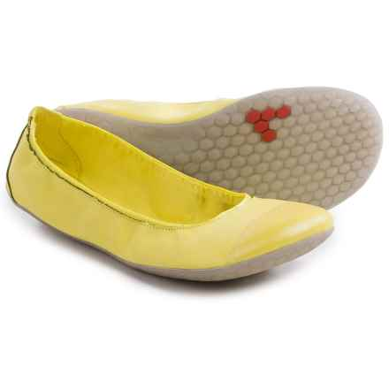 Vivobarefoot Jing Jing Shoes - Vegan Leather (For Women) in Lemon - Closeouts