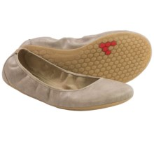 Vivobarefoot Jing Jing Shoes - Vegan Leather (For Women) in Taupe - Closeouts