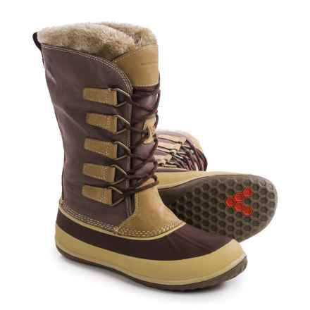 Vivobarefoot Kula Pac Boots - Waterproof, Insulated (For Women) in Dark Brown/Tan - Closeouts