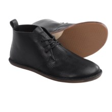 Vivobarefoot Porto Leather Chukka Boots - Minimalist (For Men) in Black - Closeouts