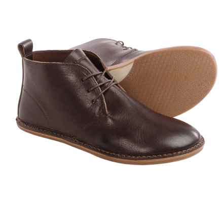 Vivobarefoot Porto Leather Chukka Boots - Minimalist (For Men) in Dark Brown - Closeouts