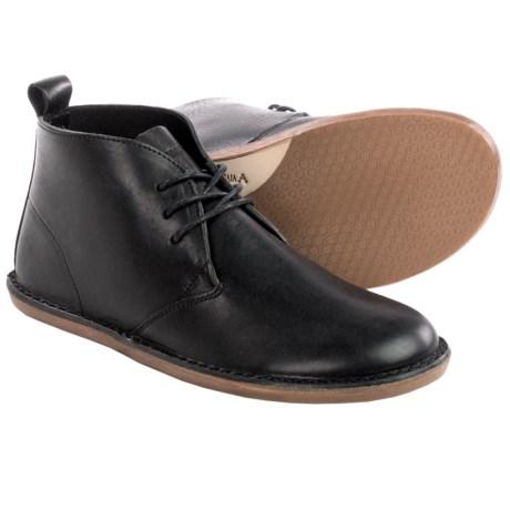 Vivobarefoot Porto Leather Desert Boots (For Women) in Black