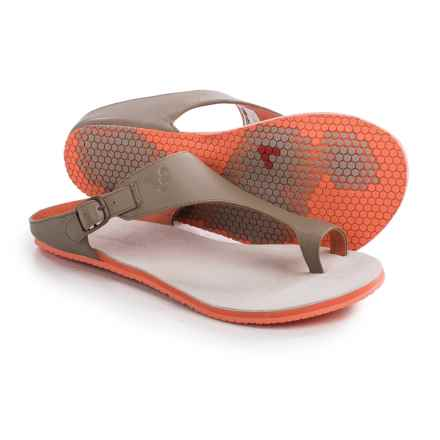 Vivobarefoot Shiva Sandals - Leather (For Women) in Mole - Closeouts