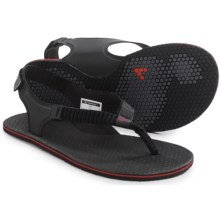Vivobarefoot Ulysses Sling-Back Sandals (For Women) in Black/Red - Closeouts