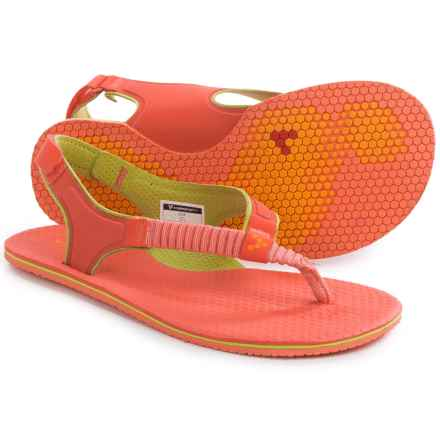 Vivobarefoot Ulysses Sling-Back Sandals (For Women) in Coral/Lime - Closeouts