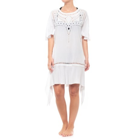 5ff470c70d8a1 Vix Gabi Caftan Cover-Up - Short Sleeve (For Women) in White