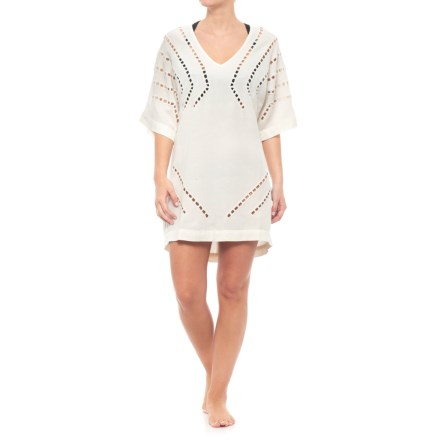 d565e81d23790 Vix Luma Caftan Cover-Up - Elbow Sleeve (For Women) in Off White