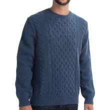 Viyella Cable-Knit Sweater - Lambswool (For Men) in Insignia Blue - Closeouts