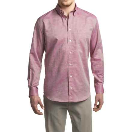 Viyella Chambray Sport Shirt - Cotton-Linen, Long Sleeve (For Men) in Faded Rose - Closeouts