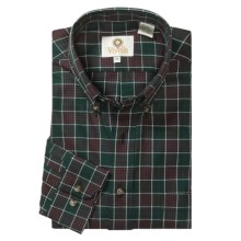 Viyella Check Sport Shirt -  Cotton-Merino Wool, Long Sleeve (For Men) in Forest Green/White/Red - Closeouts