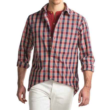 Viyella Checkered Sport Shirt - Cotton, Long Sleeve (For Men) in Red - Closeouts