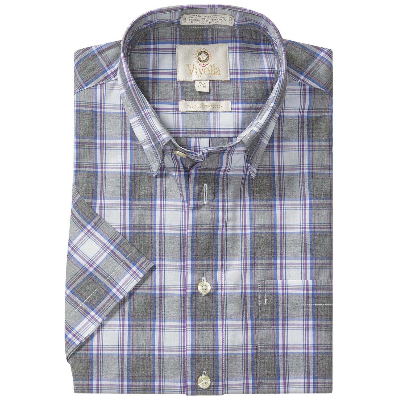Viyella cotton check shirt hidden button down collar for Hidden button down collar shirts
