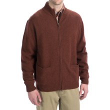 Viyella Lambswool Sweater - Full Zip, Long Sleeve (For Men) in Rust - Closeouts