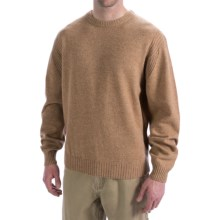 Viyella Lambswool Sweater - Long Sleeve (For Men) in Tan - Closeouts