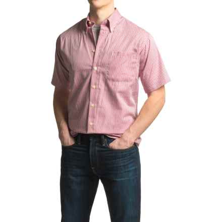 Viyella Mini-Check Sport Shirt - Cotton, Short Sleeve (For Men) in Faded Rose - Closeouts