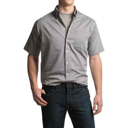 Viyella Mini-Check Sport Shirt - Cotton, Short Sleeve (For Men) in Grey - Closeouts
