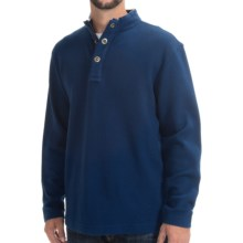 Viyella Mock Neck Shirt - Zip Neck, Long Sleeve (For Men) in Cobalt - Closeouts