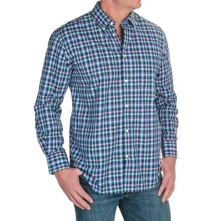 Viyella Multi-Check Shirt - Button-Down Collar, Long Sleeve (For Men) in Navy/Red/Green - Closeouts