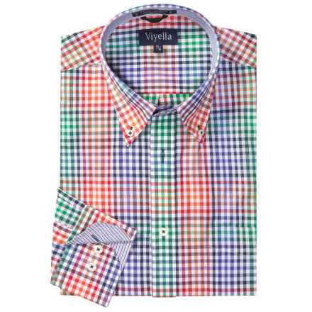 Viyella Multi-Check Shirt - Button-Down Collar, Long Sleeve (For Men) in Red/Green/Blue Multi - Closeouts