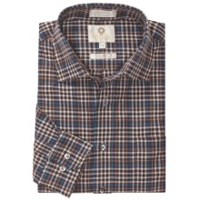 Viyella Multi-Check Sport Shirt - Cotton-Wool, Long Sleeve (For Men) in 29 Brown - Closeouts
