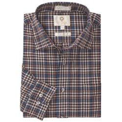Viyella Multi-Check Sport Shirt - Cotton-Wool, Long Sleeve (For Men) in 29 Brown