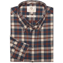 Viyella Multi-Check Sport Shirt - Cotton-Wool, Long Sleeve (For Men) in Copper - Closeouts
