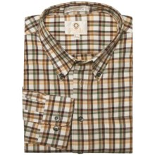 Viyella Multi-Check Sport Shirt - Cotton-Wool, Long Sleeve (For Men) in Gold - Closeouts