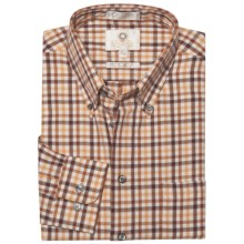 Viyella Multi-Check Sport Shirt - Cotton-Wool, Long Sleeve (For Men) in Sunshine - Closeouts
