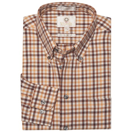 Viyella Multi-Check Sport Shirt - Cotton-Wool, Long Sleeve (For Men) in Sunshine