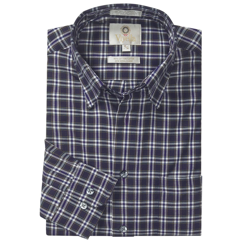 Viyella multi check sport shirt hidden button down for Hidden button down collar shirts