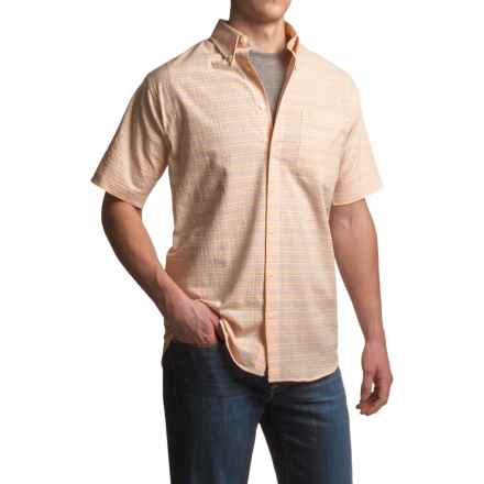 Viyella Multi-Plaid Shirt - Cotton, Short Sleeve (For Men) in Canteloupe - Closeouts