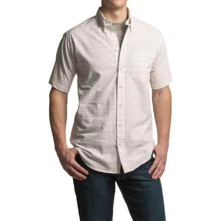 Viyella Multi-Plaid Shirt - Cotton, Short Sleeve (For Men) in White - Closeouts
