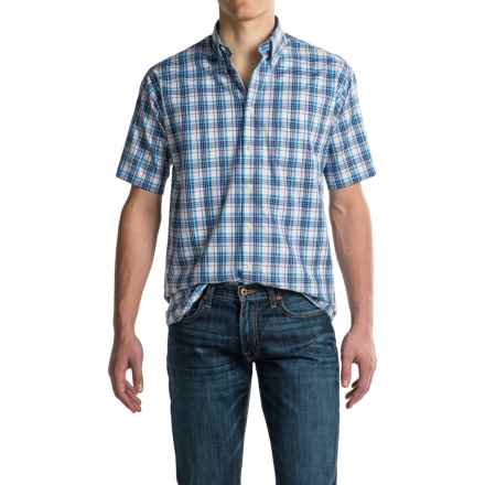 Viyella Multi-Plaid Sport Shirt - Cotton, Short Sleeve (For Men) in Chambray - Closeouts