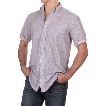 Viyella Multi-Stripe Shirt - Button-Down, Short Sleeve (For Men) in Blue/Pink - Closeouts
