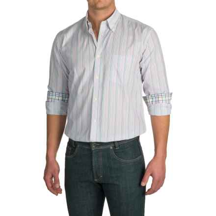 Viyella Multi-Stripe Sport Shirt - Long Sleeve (For Men) in Green/Red/Blue Multi - Closeouts