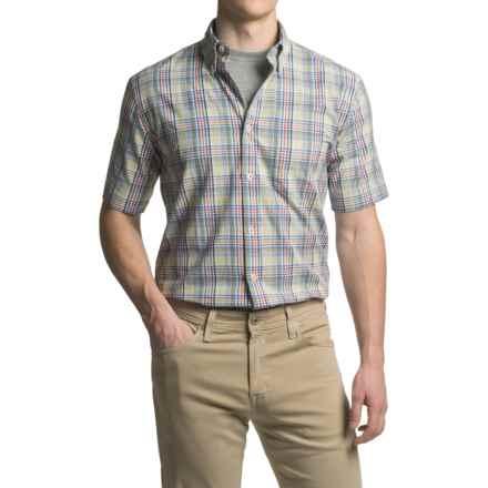 Viyella Plaid Sport Shirt - Cotton, Short Sleeve (For Men) in Blue - Closeouts