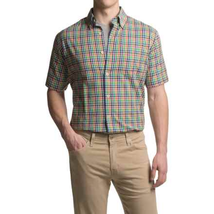 Viyella Plaid Sport Shirt - Cotton, Short Sleeve (For Men) in Green - Closeouts