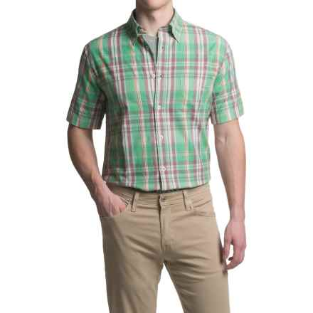Viyella Plaid Sport Shirt - Cotton, Short Sleeve (For Men) in Jade - Closeouts