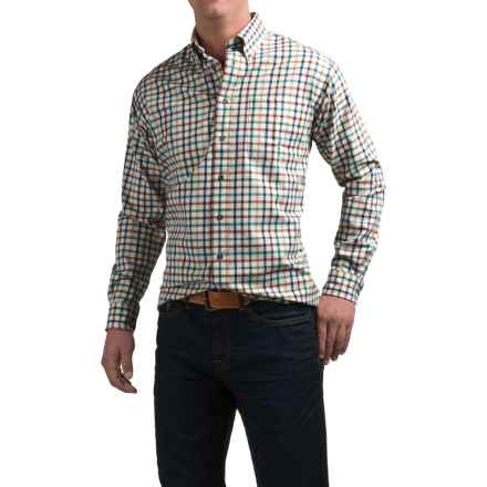 Viyella Plaid Sport Shirt - Cotton-Wool, Long Sleeve (For Men) in Earth Multi - Closeouts