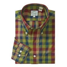 Viyella Plaid Sport Shirt - Long Sleeve (For Men) in Navy/Lime/Red - Closeouts