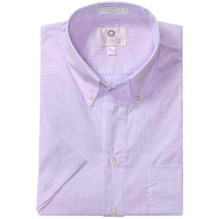 Viyella Solid Shirt - Button-Down Collar, Short Sleeve (For Men) in Soft Purple - Closeouts
