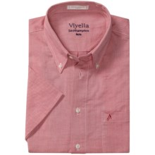 Viyella Southhampton Shirt - Button-Down Collar, Short Sleeve (For Men) in Cardinal Red - Closeouts