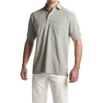 Viyella Stretch Pique Polo Shirt - Short Sleeve (For Men) in Grey - Closeouts