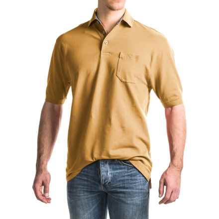 Viyella Stretch Pique Polo Shirt - Short Sleeve (For Men) in Samoan - Closeouts