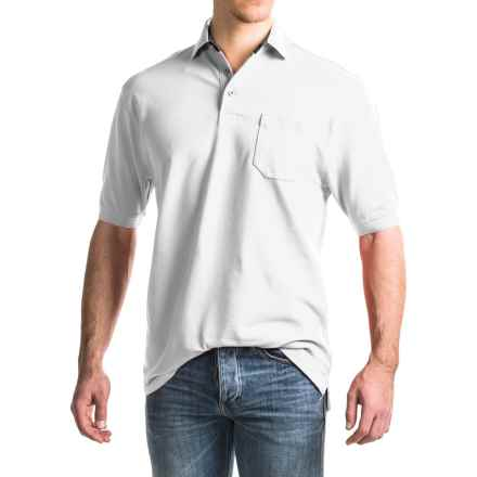 Viyella Stretch Pique Polo Shirt - Short Sleeve (For Men) in White - Closeouts